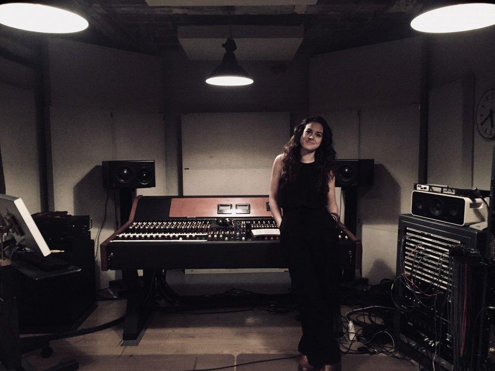 Rachel at Arun's Pandian's Signal Corps Recording