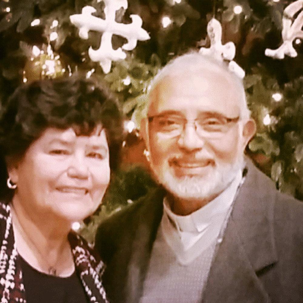 Olga Ochoa and Padre Miguel