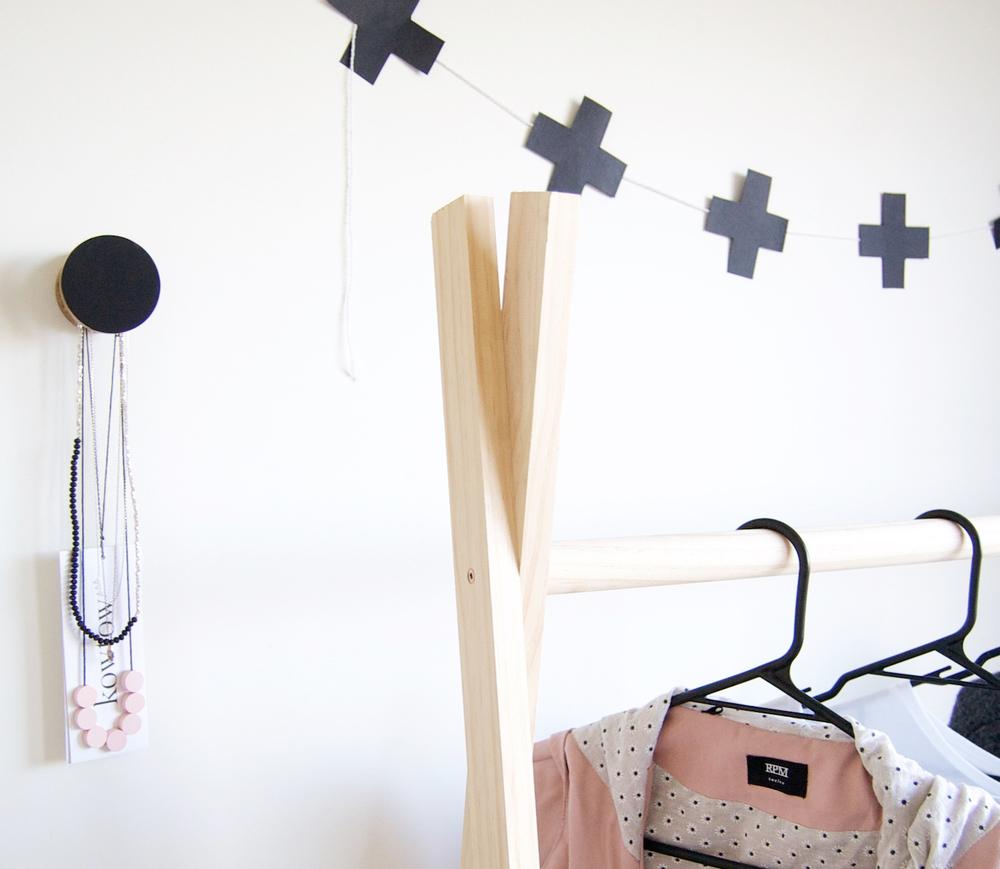 Diy Wooden Clothes Rack Chloe Larkin