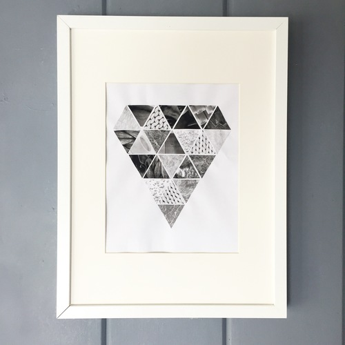 Diamond Wall Art - Geometric Collage — Cork & Craft Events
