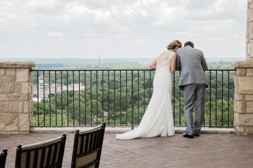 Lawrence Rooftop Terrace Wedding at The Oread by Merry Ohler