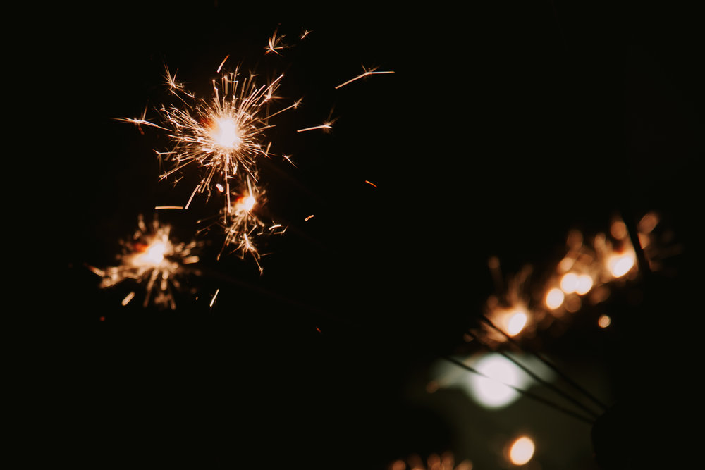 Sparkler Exit | SEO Strategy Tips by Merry Ohler, who is the best photographer in Kansas City