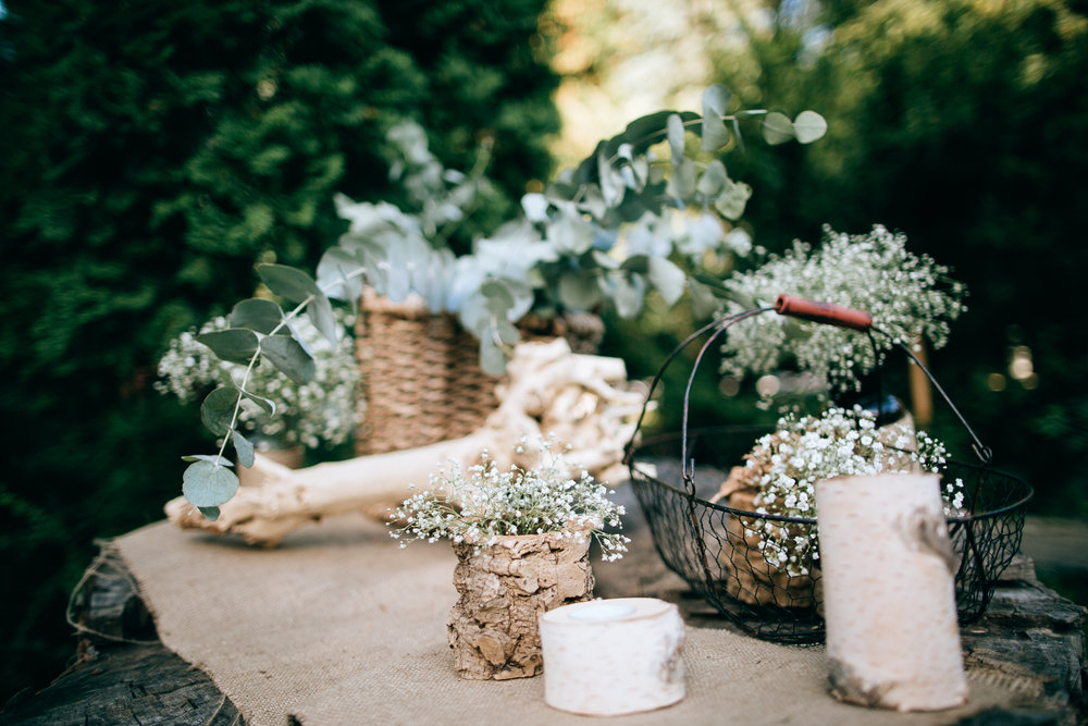 Original wedding floral Hand Made Decoration, flowers, wood, table