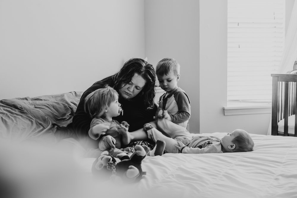 Self portrait of motherhood. | Image by Documentary Photographer in Kansas City, Merry Ohler.