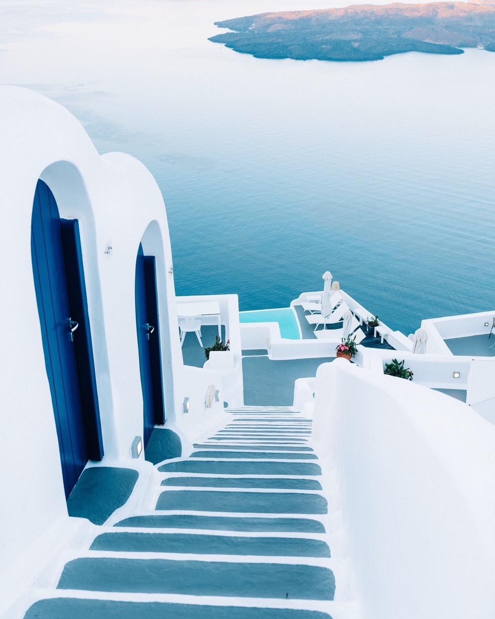 Stairway to Chromata Hotel