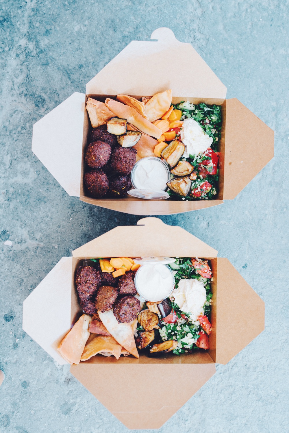Lunch at falafel land: falafel boxes