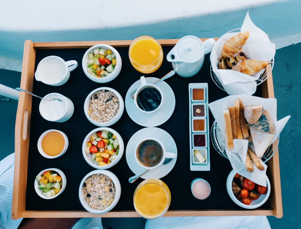 Breakfast spread: Chromata Hotel