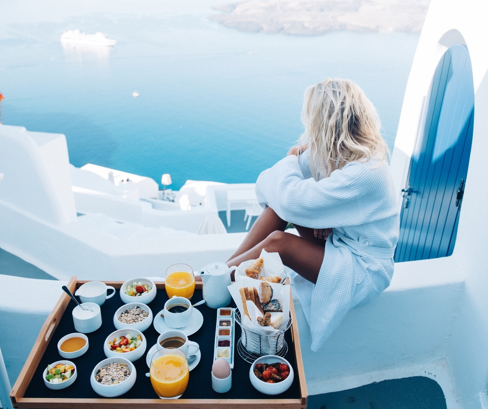 My favourite travel snap: breakfast with a view at Chromata Hotel