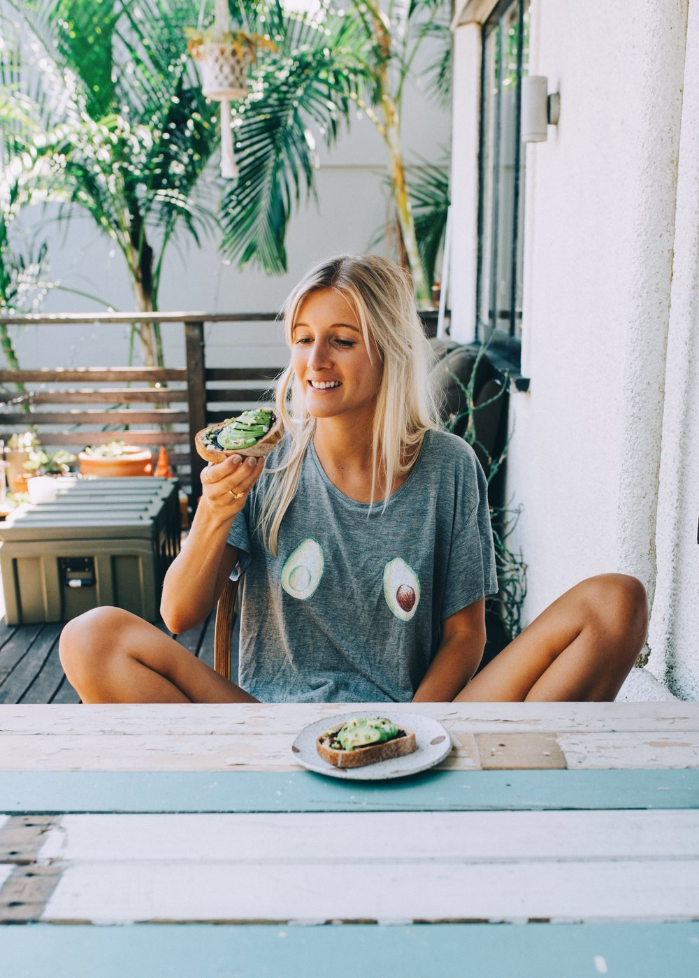 Avocado tee- I am wearing size small. CLICK HERE TO GET ONE