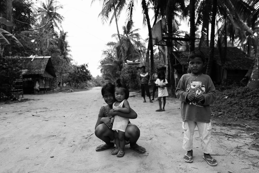 Beautiful children in the streets of Siargao