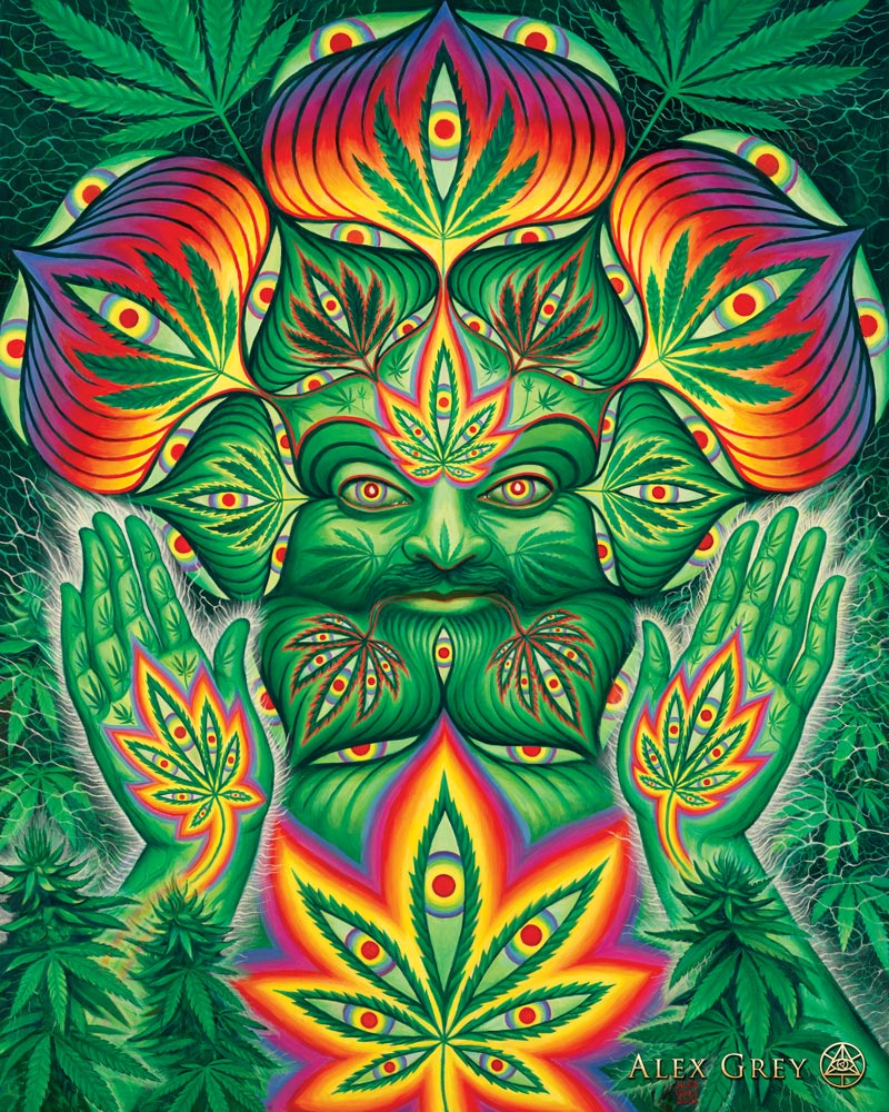 A representation by artist Alex Grey on Cannabis and Spiritual Perspectives