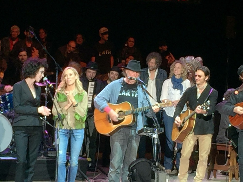 With Neil Young, St. Vincent, Sheryl Crow