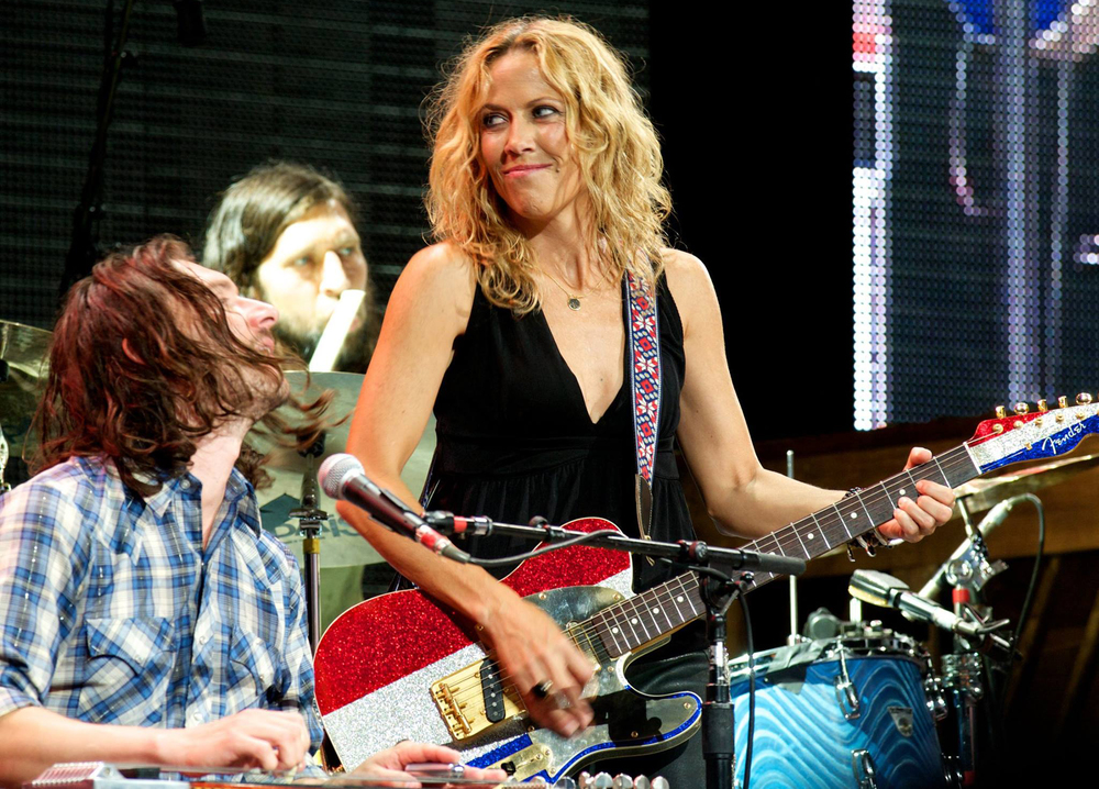 With Sheryl Crow