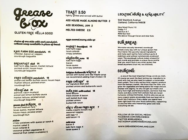 New-ish menu! Come try the 🍳duck egg cobb🍳 #glutenfree #gumfree #greaseboxoakland