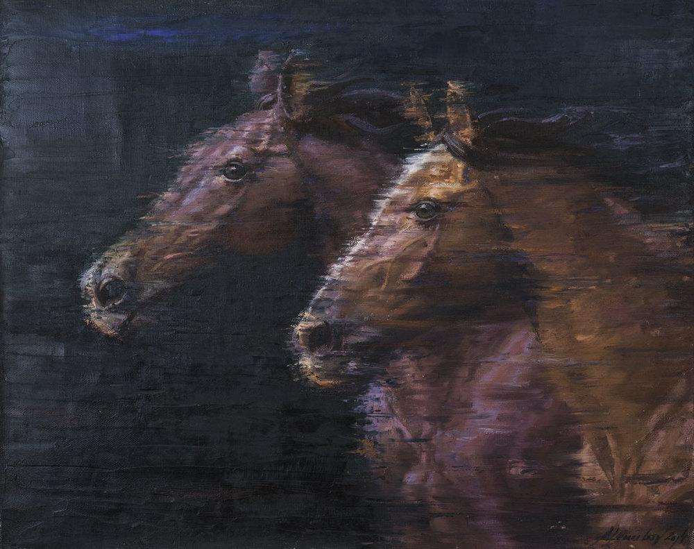 """Pferde"" 80x100 6,300.-"