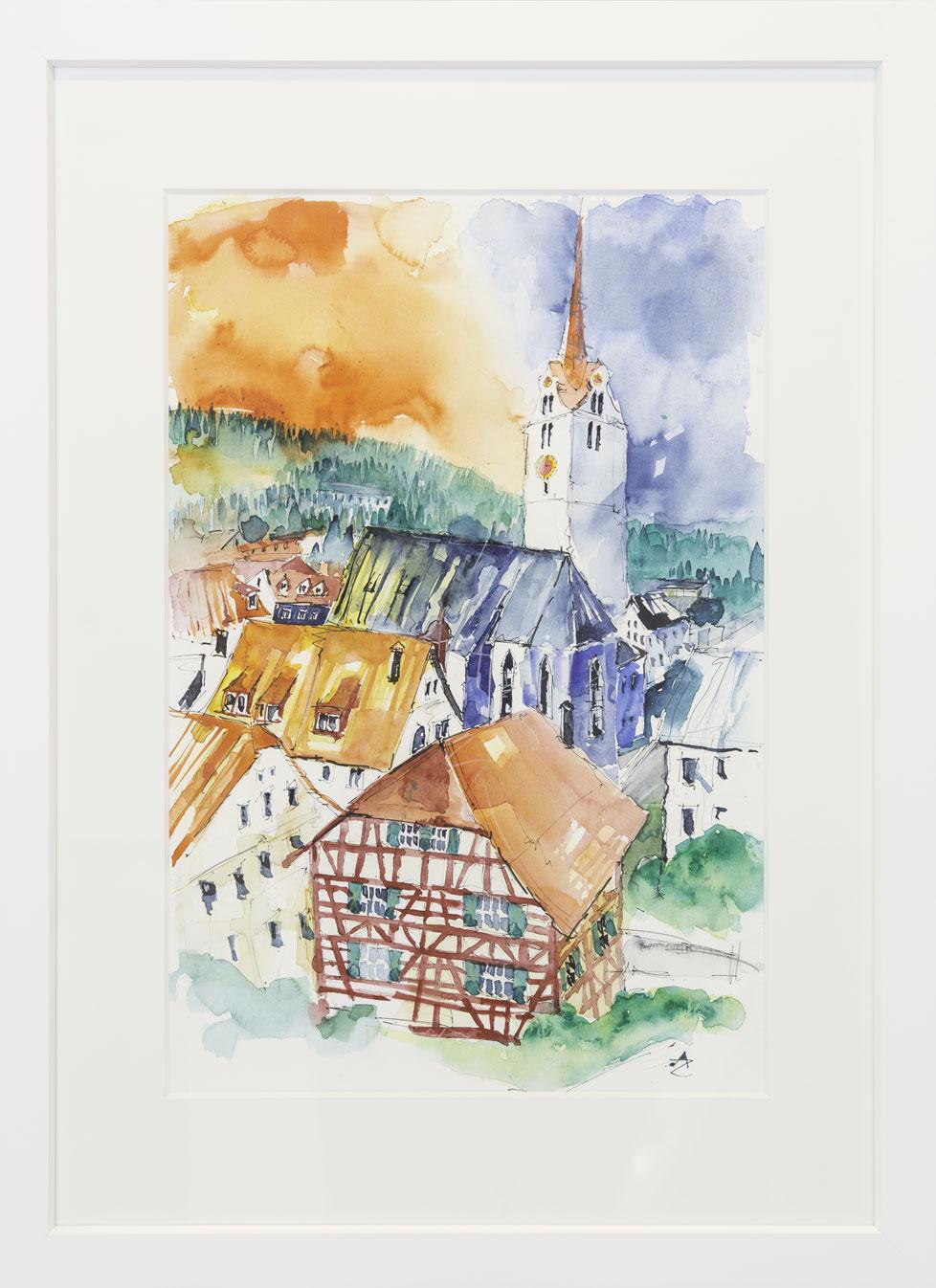 """Kirche"" Alfred Zgraggen 50x70cm 980.-"