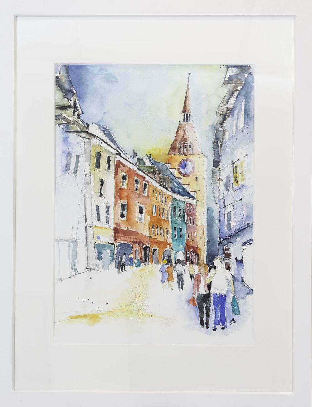 """Marktgasse"" Alfred Zgraggen 60x80cm 980.-"