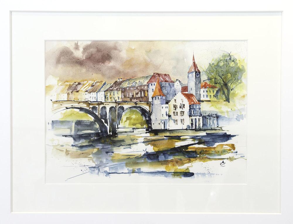 """Viadukt"" Alfred Zgraggen 60x80cm 1,250.-"