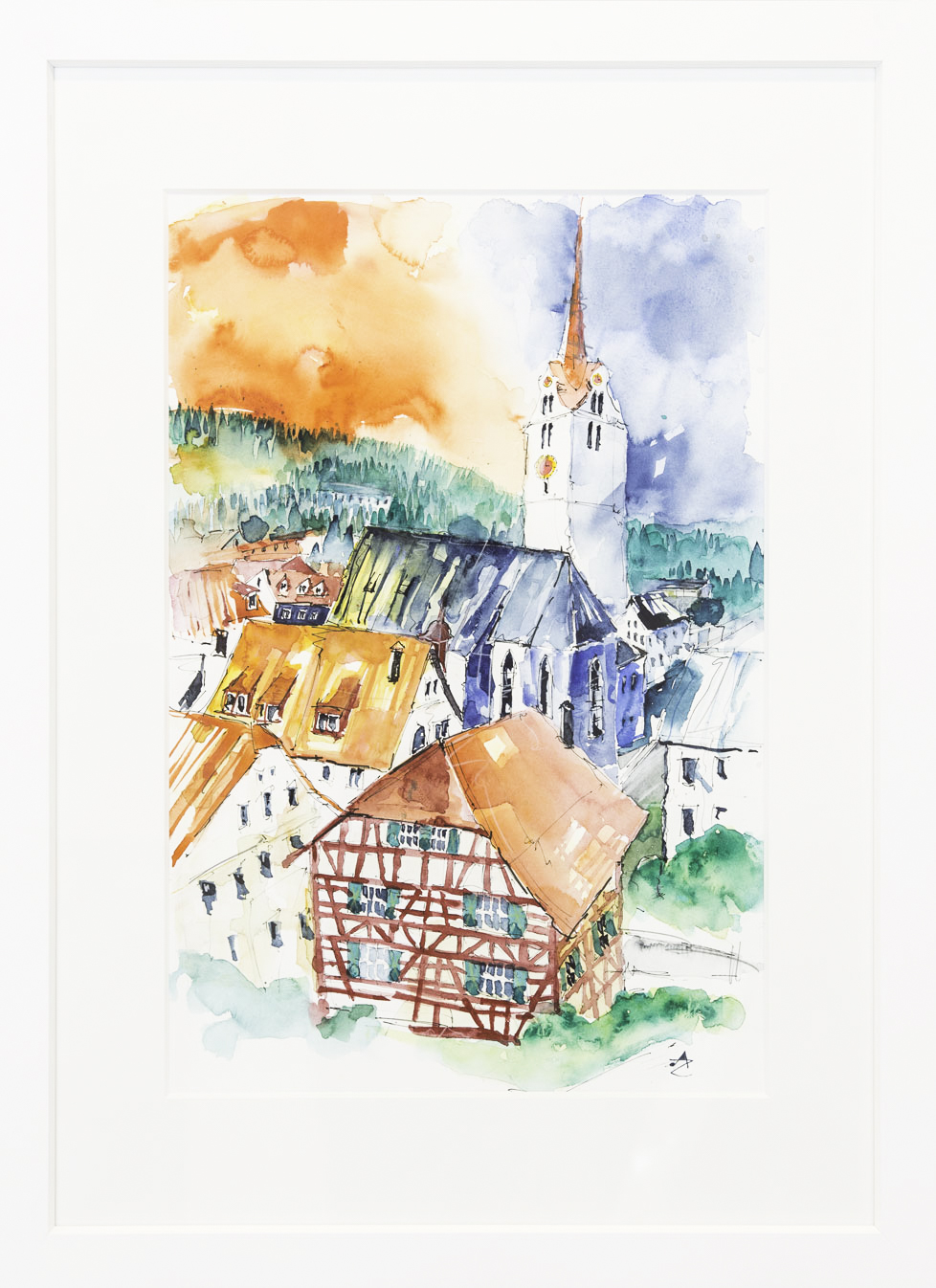 """Kirche"" 50x70cm 980.-"