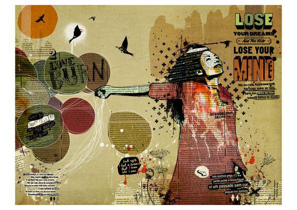 """""""Balloon Girl"""" 180x135cm Digitale Kunst 2010 4,500.-"""
