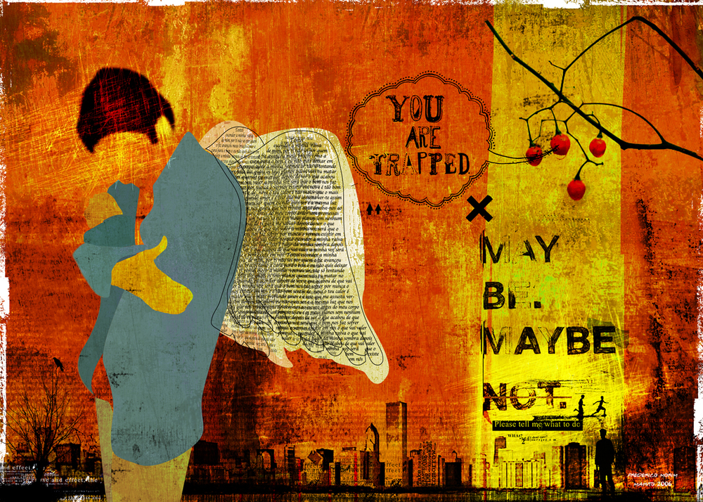 """""""Anjo"""" 180x135cm Digitale Kunst 2008 3,500.-"""
