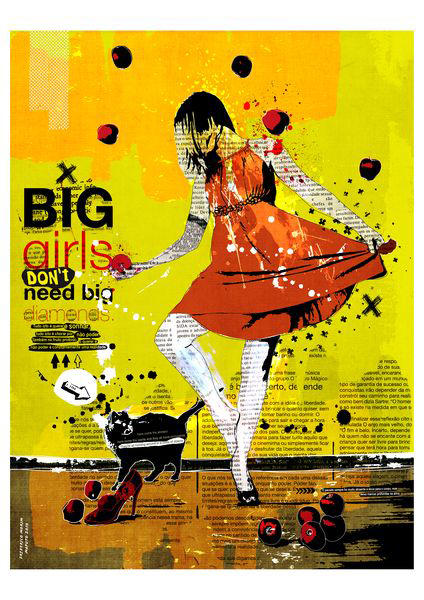 """Big"" 135x180cm Digitale Kunst 2010 3,500.-"