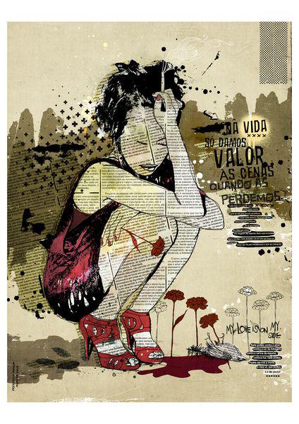 """Depressao"" 120x90cm Digital Kunst 2010 1,800.-"