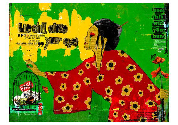 """Papaoila"" 180x135cm Digital Kunst 2008 4,500.-.-"
