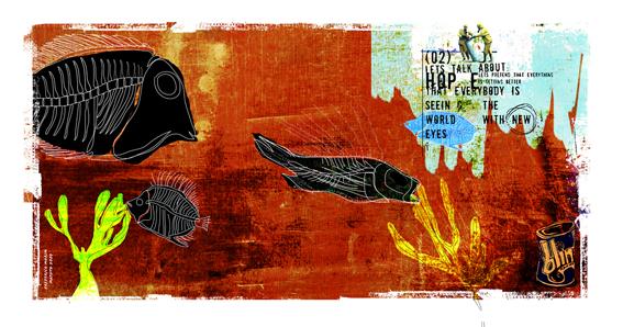 """""""Peixes"""" 180x135cm Digitale Kunst 2008 3,500.-"""