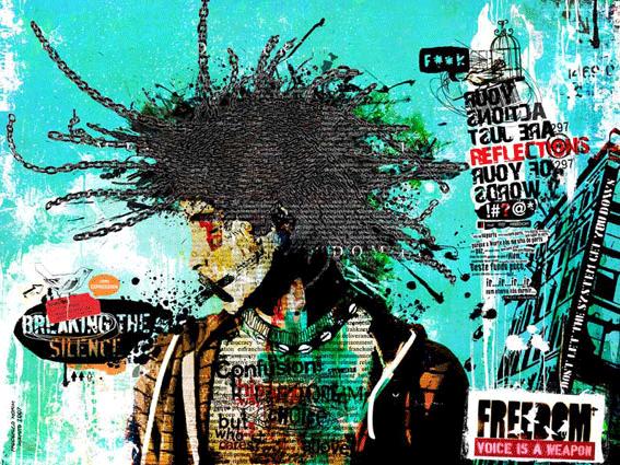 """Rasta"" 180x135cm Digitale Kunst 2008 3,500.-"