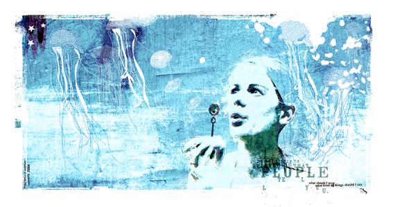 """Sopro"" 180x135cm Digitale Kunst 2008 3,500.-"