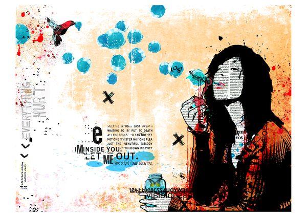 """Azul"" 180x135cm Digitale Kunst 2007 3,500.-"