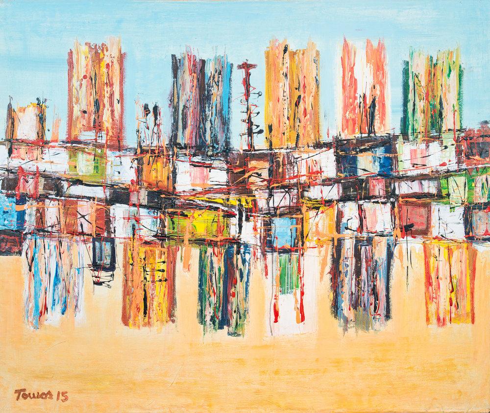 """""""Cidade"""" 117x99cm Acryl 2015 1,600.-"""
