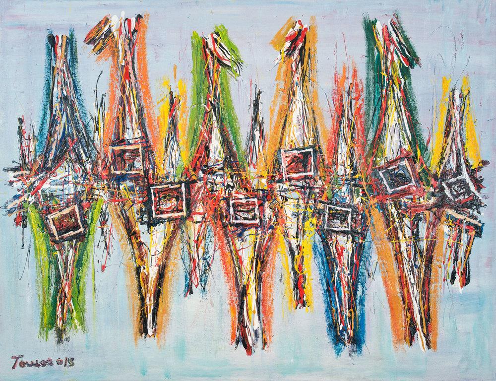 """""""Dança Tradicional"""" 129x95cm Acryl 2015 1,500.-"""