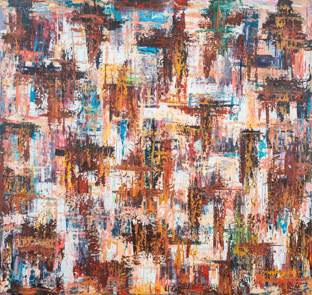 """Futuro Da Terra"" 109x103cm Acryl 2016 1,950.-"
