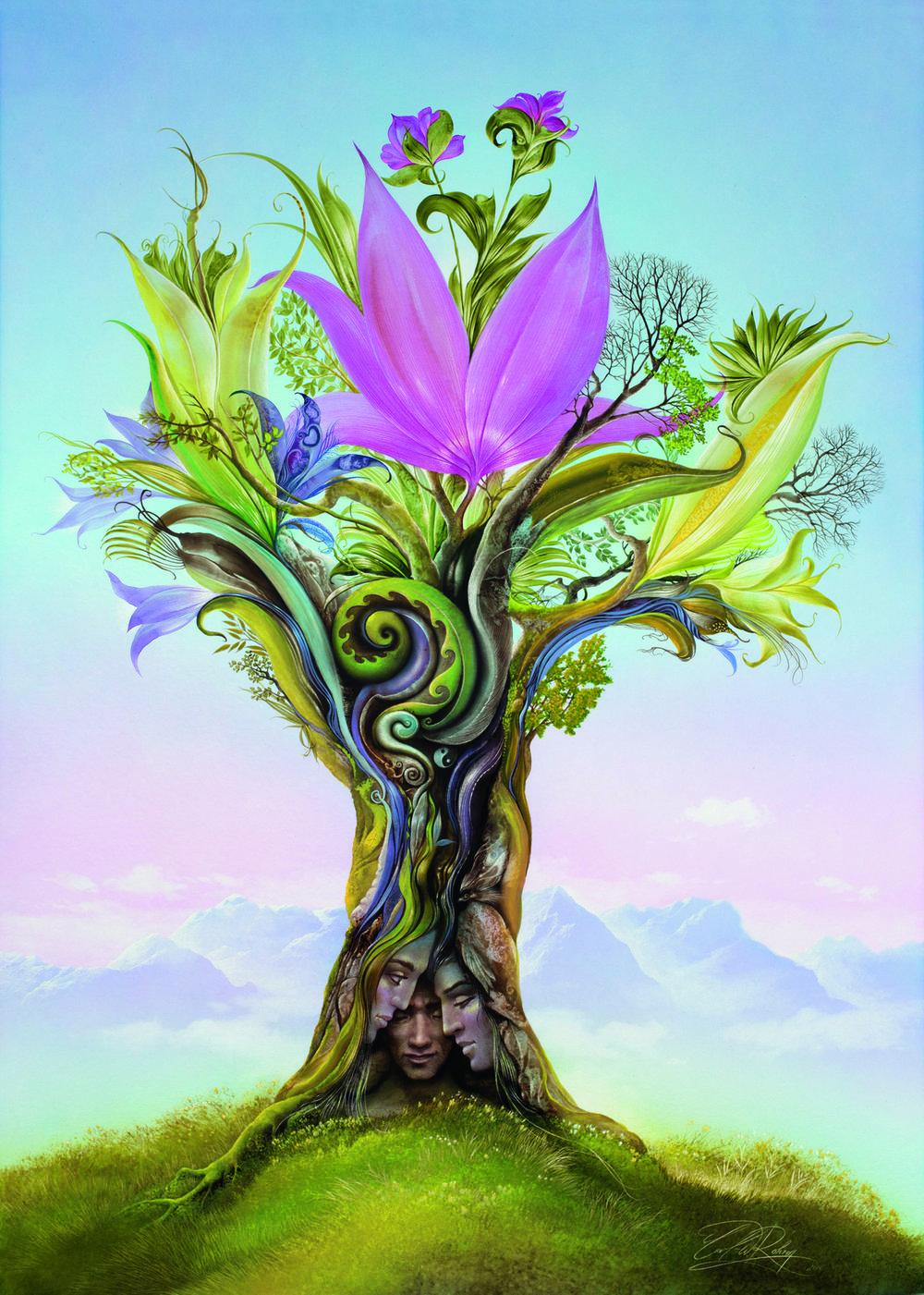 """Baum der Entfaltung"" 102x73cm CHF10,500"