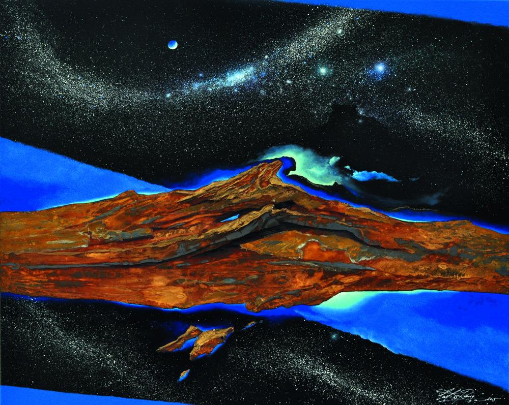 """Iron and Magic Blue"" 80x100cm CHF6,500"