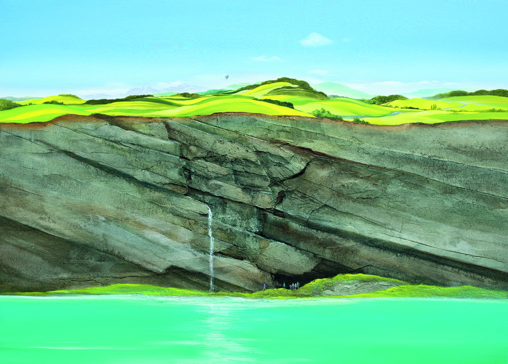 """""""Wasser, Felsen und Felder"""" 100x140cm CHF12,500"""