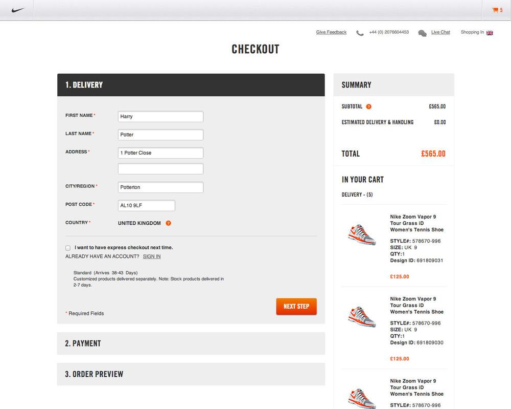 Nike Checkout