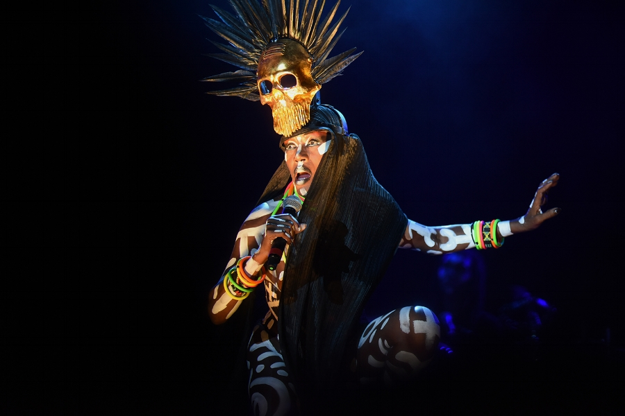 Grace Jones performing at AFROPUNK -photo: Visual Marvelry