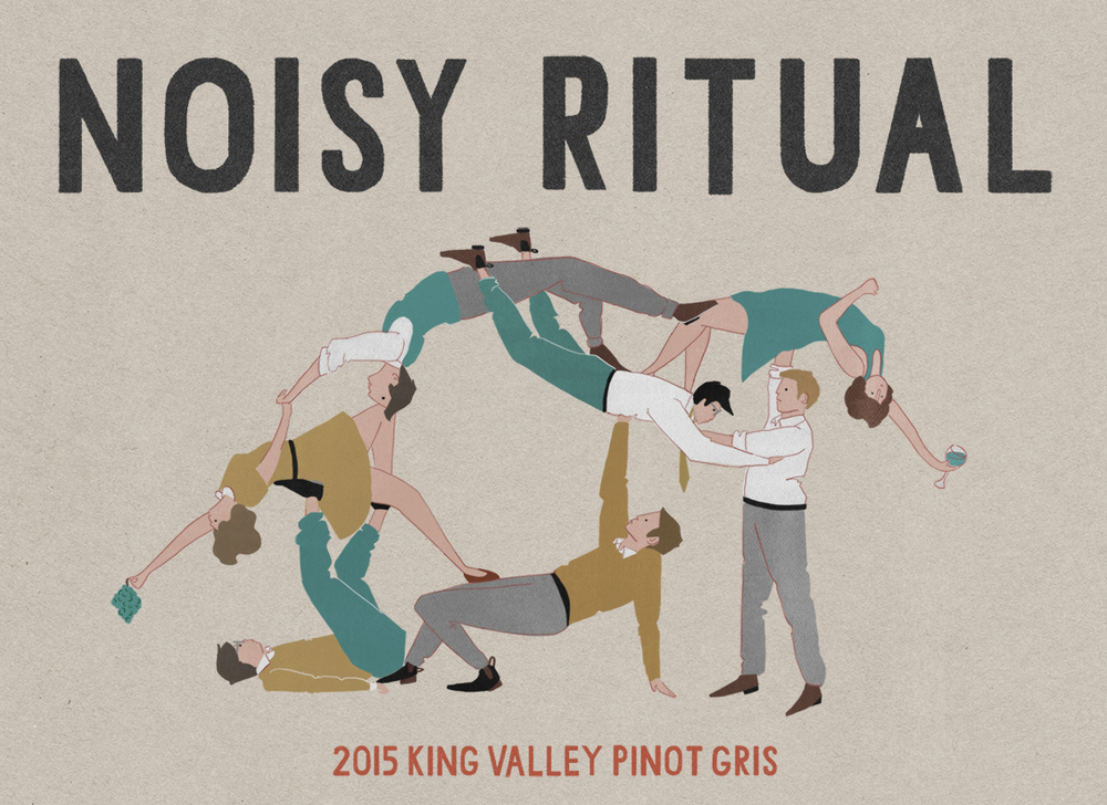Noisy Ritual wine label DESIGN