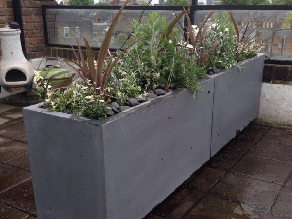 Rooftop garden planters