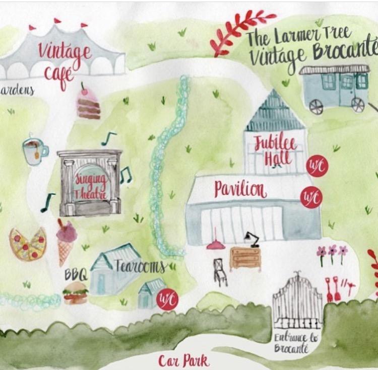 larmer tree brocante map