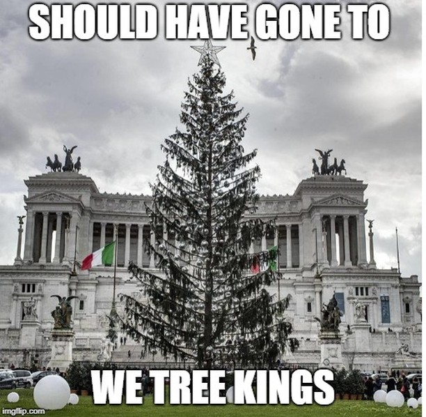 """⏮to last Christmas when Rome spent 37 grand on this mostrosity. Locals were so disgusted they started calling it """"lo Spelacchio"""" (""""The Mangy One""""). Should have gone to We Tree Kings guys!! Our five to six foot Nordmann are 37 quid 😎🌲👑 . . . #tbt #throwbackthursday #rome #wetreekings #shouldhavegonetowetreekings #themangyone #spellachio #realchristmastree #keepitreal #keepitfresh #keepitukgrown #realchirstmastree #realtree #christmasiscancelled"""