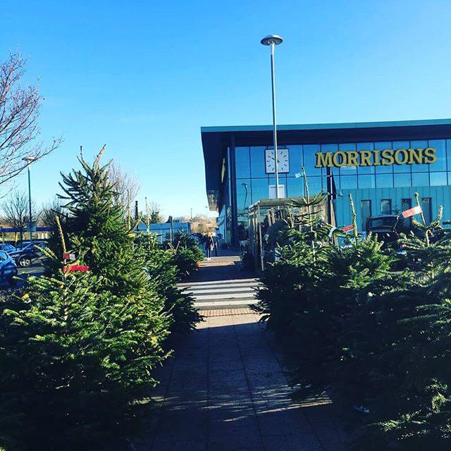 """""""We Tree Kings of Leamington Spa""""🎶 ... Our site outside Leamington Morrison's, looking lovely in the winter sun🌲🌞❄🌞🌲🌲🌲🌲🌲🌲🌲🌲🌲🌲 . . . . #wintersun #sunshine #christmas2018 #christmastree #realchristmastree #keepitreal #leamingtonspa #royalleamingtonspa #keepitreal #keepitfresh #locallygrown"""