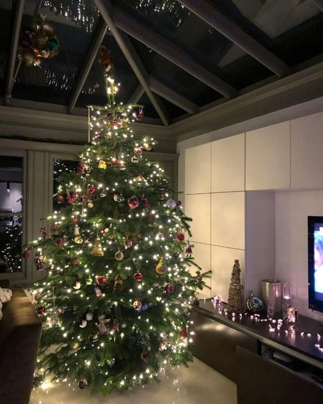 Obligitary 'nice tree in nice house shot'. Looking great.  Somewhere in Edgbaston, Birmingham.  Thanks for the photo guys!! 🌲👍🌲👑 . . . #realchristmastree #keepitreal #freshlycut #deckthehalls #baubles #tinsel #wetreekings #christmasdelivered #niceshape