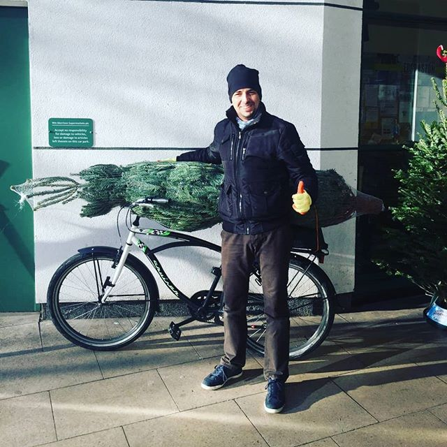 Any tree in any car (or bike)... That's our promise. Last few trees left at most of our sites now. Pedal over and say hello 🚴‍♂️🚴‍♀️😁🌲 . . . . #pedalpower #bike #christmasdelivered #christmas2018 #christmas #christmastree #keepitfresh #keepitlocal #keepitreal