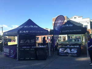 Race Day Booth at the Finish Line of the Steamboat Springs Marathon