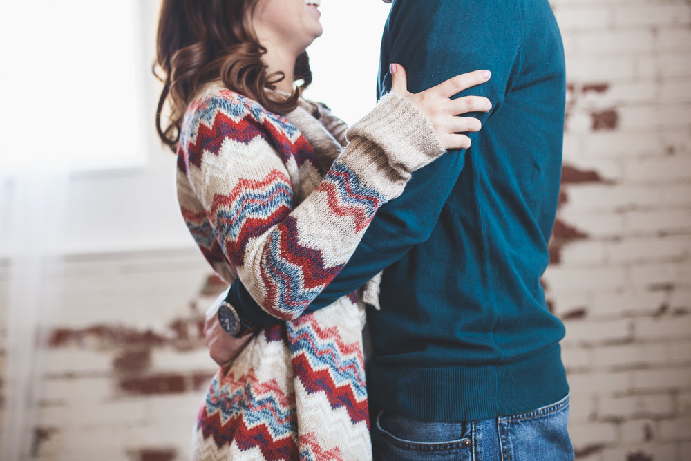 Indoor Cozy Engagement Session Warehouse Fox and Finch Bethlehem PA What to Wear