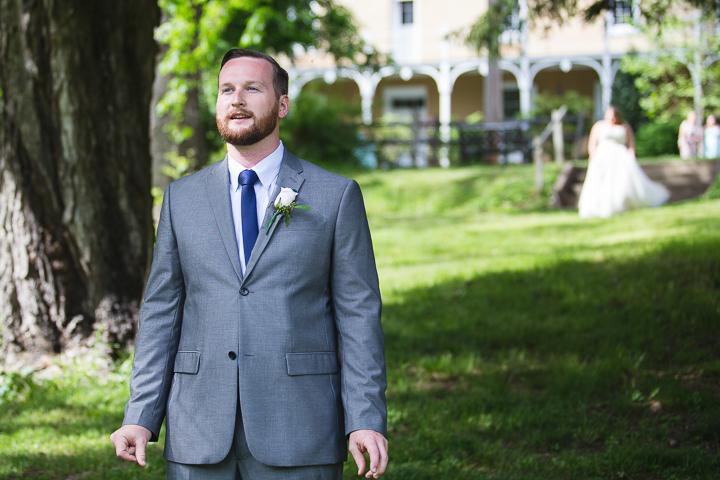 Danielle Salerno Photography First Look Wedding Gray and Blue Groom Washington Inn